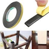 Seguridad negro sola cinta adhesiva de doble cara cojín de espuma de célula cerrada 5m x 2 mm x 10 mm