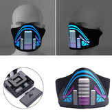 BIKIGHT Outdoor Sport Fietsen Gezichtsmasker Light Up Flashing Lichtgevend voor Halloween Party
