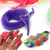 6PCS Magic Twisty Fuzzy Worm Wiggle Verhuizen Sea Horse Kids Trick Toy Six Color