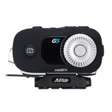 AiRide G5 3500M 1080P Moto Casco Cámara DVR Intercom Auriculares Grabador de conducción con función Bluetooth Interphone