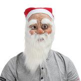 WeihnachtsfeierDekorationWeihnachtsmannGesichtsmaskeMitBart Cosplay Spielzeug Requisiten