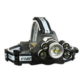 XANES 2508A 2800LM 2×XPE+5×T6 7LED 5 Modes USB Charging Mechanical Zoom Headlamp 18650 Battery