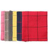 Unissex lenços borla grade malha de algodão puro xale pashmina