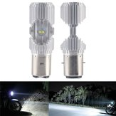 BA20D 1200LM 6000K 4 LED Scooter Hi/Lo Motorbike Moped ATV Headlight Fog Lamp Bulb