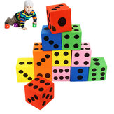 12Pcs Large Jumbo Colorful Foam Dice Kids Baby Educational Play Toy Puzzle Game