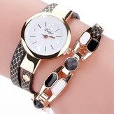 DUOYADY106Montreàlamode en cuir vintage avec bracelet pour femme