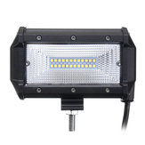 5Inch 72W LED Work Light Bars Flood Beam IP67 10-30V White for Jeep Off Road SUV Truck