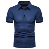 Heren Zomer Casual Business Stijlvolle Basic Golf Shirts