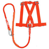 100kg Max Load Orange Aerial Work Rope Climbing Rope Belt Outdoor Mountaineering Belts Security Protection Accessories