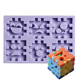 Blocs Expression Silicone Cookie Moule Fondant Cake Mould Creative Baking Accesseries