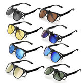TR90 UV400 Polarized Sunglasses Lense Clips Lenses Glasses