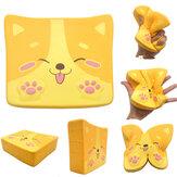 Kiibru Собака Puppy Toast Squishy 14 * 11.5 * 4CM Лицензионный медленный рост Soft Гигантская игрушка с упаковкой