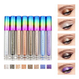 8 colores Colorful Shimmer Brilho Liquid Eye Shadow