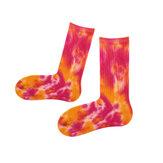 Vrouwen Kleurrijke Katoenen Lange Buis Sokken Casual Dikke Warm Print Socks