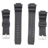 16mm Silicone Black Strap Watch Band for Casio G-Shock