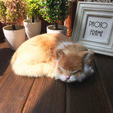 Realistic Sleeping Cat Really Peluche Fake Kitten Fur Furry Animal Figurine Giocattoli Decorazioni per la casa
