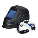 Energia słoneczna Automatyczna ściemnianie Maska spawalnicza Automatyczne przyciemnianie Przyłbica spawalnicza Duża powierzchnia 4 czujniki Regulacja zewnętrzna Łuk Tig Mig DIN5-DIN13