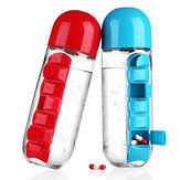 IPRee® 600ml Water Bottle 7 Days Week Pill Capsule Case Organizer Leak-Proof Drinking Cup