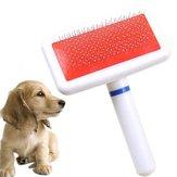 犬のブラシペットの犬の櫛長い髪のブラシのプラスチック製のハンドルの子犬の猫の犬のバスのブラシ多機能櫛