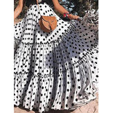 Summer Beach Big Swing Dress Polka Dot Skirts