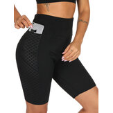 Bedruckte Sweat Shaping Shorts aus Neopren