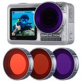 Ulanzi oa-9 kit de filtro de lente de mergulho magenta vermelho roxo para DJI Osmo câmera de esportes de ação