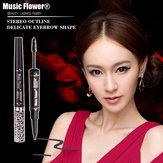 Music Flower impermeabile anti-sudore Sopracciglio penna tinta Sopracciglio