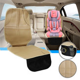 Short Beige 55cm Leather With Pocket Baby Car Seat Cover Mat Non-slip Wear-resistant Anti-Dirty Waterproof Pad