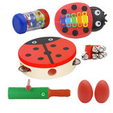 Orff Musical Instruments Sets Hand Drum Egg Maracas Wrist Bell Single Ring Percussion Piano A Section of Rain Educational Musical Gifts