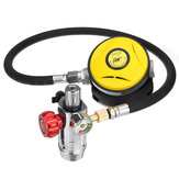 S400 Second Level Breathing Valve + PV-001 Medium Pressure Air Hose Gauge