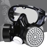 PVC Çift Kartuş Gaz Maske Tam Yüz Maskesi Kimyasal Toz Korumalı Çalışma Filtresi