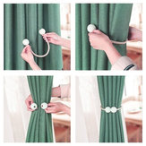 2Pcs Magnetic Pearl Ball Window Curtain Buckle Holder Tieback Tie Backs Clips