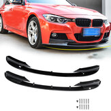2pcs Front Bumper Protector Cover Lip for BMW F30 3 Series M Style 2012-2018 Front Bumper Only for Sports Version