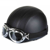 BIKIGHT Moto Helmets Motorcycle Protector Bike Bicycle Helmets Retro Vintage Style Motorcycle Helmet with Goggles Scarf