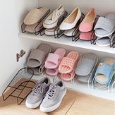 Iron Double Layers Shoe Racks Integriertes Schuhregal Home Storage Racks