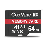 Ceamere Memory Card 32GB / 64GB C10 High Speed TF Card Data Storage MP4 MP3 Card for Car Driving Recorder Security Monitor Camera Card Speakers