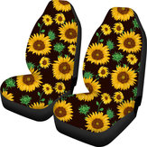 2PCS Auto Car Seat Covers Front Full Sunflower Universal Fit Elastic Protector
