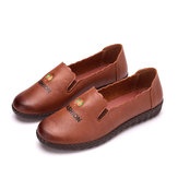 PU Leather Round Toe Loafers