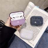 Bakeey Luxury 3D Cute Matte Particles Glitter Bling Sequins Diamond Shockproof Anti-drop Earphone Storage Case for Apple Airpods 3 Airpods Pro 2019