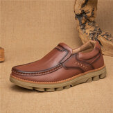 Retro Slip Resistant Casual Business Office Leather Oxfords