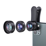 KUULAA 3in1 4K HD Wide Angle Lens Macro Fisheye Lenses Cell Phone Camera Lens Kit for iPhone 11 Pro Max Huawei P20 Pro Samsung Xiaomi Redmi