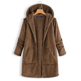 Casual Thicken Solid Coats