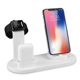 Bakeey 3 Em 1 Qi Carregador Sem Fio Dock Holder Mount para Apple Watch Airpods Telefone