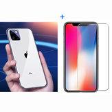 Baseus Ultra-mince transparent Soft TPU Housse de protection + Bakeey Protecteur d'écran en verre trempé anti-explosion pour iPhone 11 Pro Max 6,5 pouces