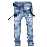 Heren patchwork jeans