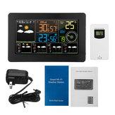 LED Wifi App Weather Station Alarm Clock Thermometer Barometer Wireless Sensor