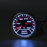 Universal 2 Inch Car Water Temperature Gauge Meter Smoked Tint Fahrenheit Unit