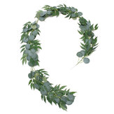 Artificial Silver Dollar Eucalyptus Garland Faux Silk Leaf Vine Greenery Willow Ring Wedding Home Garden Decorations