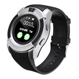 KALOAD V8 1.22in 32MB+32MB IPS HD Camera Support Sim Card Smart Watch Audio Player Anti-lost Calendar Pedometer Sports Bracelet Fitness Tracker