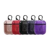 Bakeey Portable PU Leather Наушник Защитный Чехол С Крюк Для Apple AirPods 1 2